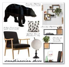 """Scandinavian"" by mmmartha ❤ liked on Polyvore featuring interior, interiors, interior design, home, home decor, interior decorating, ibride, Umbra, Dot & Bo and Gaia"
