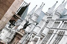 "100 Likes, 7 Comments - Gabriella Buzas (@epicstreetstyle) on Instagram: ""Such a sucker for this 🏰🐲 . ."" Royal Courts of Justice London city gothic style architecture towers dragon castle fantasy fairytale"