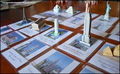Exploring World Landmarks - FREE Printable Montessori World Landmark Cards
