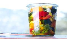 Adding veggies to the marinade while warm helps them absorb more flavor.