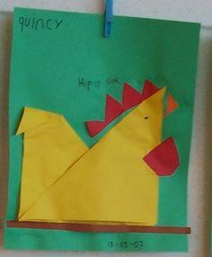 Henne falten origami