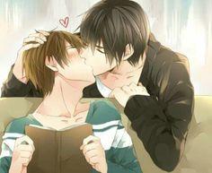 usagi, junjou romantica, and misaki image Manga Anime, Anime Guys, Anime One Piece, Makoharu, Levi X Eren, Kawaii, Shounen Ai, Cute Gay, Doujinshi