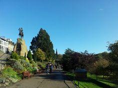 Royal Scots Greys monument in Princes Street Gardens - Edinburgh, Scotland