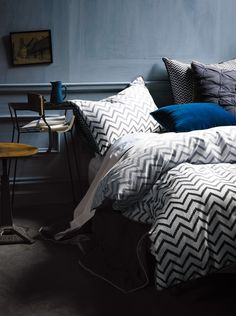 chevron bed linen