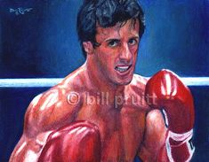 Sylvester Stallone Rocky Balboa art print 12x16 by billpruittart, $15.00