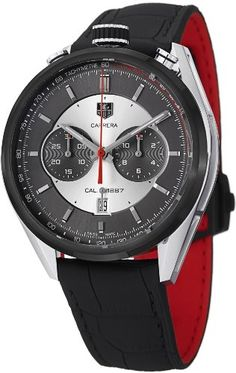 TAG Heuer Men's CAR2C11.FC6327 Carrera Analog Display Swiss Automatic Black Watch www.watchesbuy.net