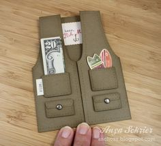This could easily be turned into a Girl Scout vest with added patches as a congratulations on Bridging card!