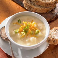 I have been looking for a good potato soup recipe.  I can't remember how my mother made it, but this looks good.