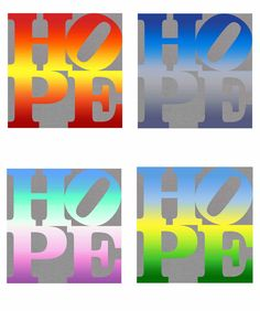 """The Four Seasons of HOPE"" [""HOPE (Autumn)"", ""HOPE (Winter)"", ""HOPE (Summer)"" and ""HOPE (Spring)""], 2012"