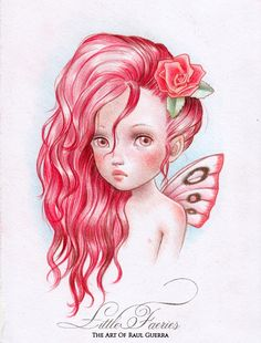 The Art of Raul Guerra - Rose Faery Colour pencils on paper. 2013