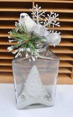 The Homeless Finch: Holiday snow globes diy