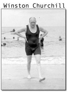 Winston Churchill in Swimsuit