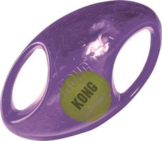 KONG Jumbler Football for Dog Toy. Squeaker and tumbling interior ball entice play. M/L Football - L/XL Football - Handles make pick up and shaking easy. Ideal for interactive fun. Smart Dog Toys, Best Dog Toys, Kong Dog Toys, Pet Toys, Large Dog Breeds, Large Dogs, Outdoor Dog Toys, Kong Company, Dog Test