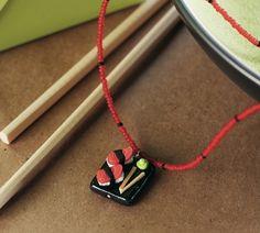 Sumptuous Sushi Platter necklace