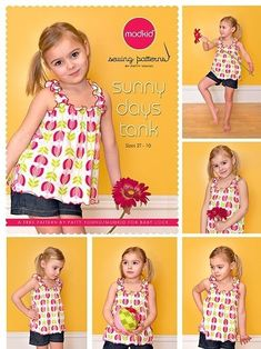 Modkid Sunny Days Tank · How To Make A Tank Top · Sewing on Cut Out + Keep
