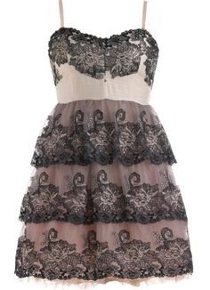 Embroidered Princess Dress: Features a charming sweetheart neckline and padded bust for full support, removable spaghetti straps for optional strapless wear, elaborate embroidery covering the upper bodice and three full princess tiers below, and a fluffy pink crinoline liner for extra volume to finish.