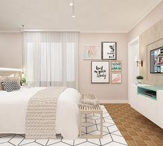 """1,020 curtidas, 31 comentários - Marília Zimmermann (@marilia.arq) no Instagram: """"Quarto de casal   Tão leve e clean este cômodo. Este quarto foi pensado com atenção nos mínimos…"""""""