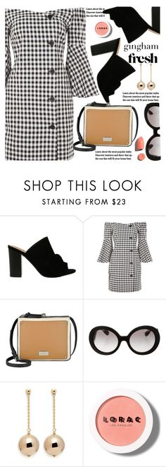 Check Republic: Gingham Dress by paculi on Polyvore featuring Nine West, Kenneth Jay Lane, Prada, LORAC, PUR, StreetStyle, casual and gingham