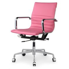 M348 Office Chair in Pink Vegan Leather