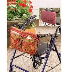 Wheelchair & Walker Carryall & Carrier Bag ~ http://kwiksew.mccall.com/k3927-products-20460.php?page_id=3331