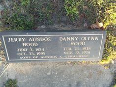 Danny Olynn Hood (1938 - 1938) - Find A Grave Photos