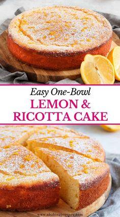 Lemon Dessert Recipes, Easy Cake Recipes, Sweet Recipes, Baking Recipes, Healthy Lemon Desserts, Light Desserts, Easy Desserts, Delicious Desserts, Easy Italian Desserts