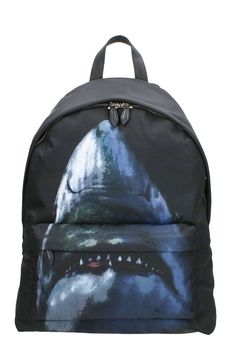 GIVENCHY SHARK PRINT BACKPACK. #givenchy #bags #leather #backpacks #