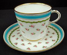Antique Minton Tea Cup & Saucer with Roses