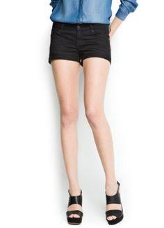 Mango Women's Dyed Denim Shorts, Black Denim, 2 Black Denim 2 MANGO. $29.99