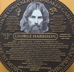 This plaque is in Bangladesh, where they have never forgotten what George did for them.