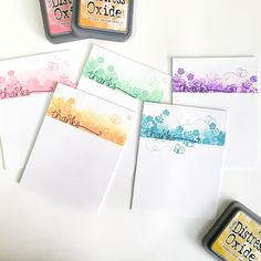 used Distress Oxide inks and did some light ink blending and masking Alcohol Ink Crafts, Alcohol Inks, Thank U Cards, Distress Ink Techniques, Stampin Up Karten, Rainbow Card, Distress Oxide Ink, Ink Stamps, Bullet Journal Ideas Pages
