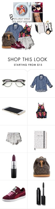 """""""JL〰"""" by jonaticaajesy ❤ liked on Polyvore featuring Abercrombie & Fitch, MAC Cosmetics, Louis Vuitton, Puma, Bobbi Brown Cosmetics, Tory Burch, Chanel, women's clothing, women and female"""