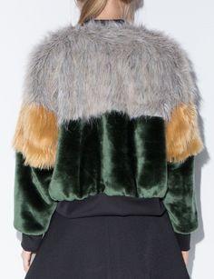 TDS Faux Fur Bomber Jacket