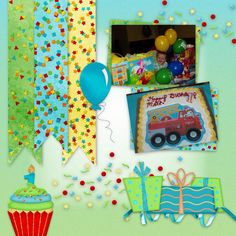Digital Scrapbooking Kit Let Them Eat Cake - ADB Designs  https://www.digitalscrapbookingstudio.com/collections/l/let-them-eat-cake-by-adb-designs/  Let Them Eat Cake is all about scrapbooking your favorite photos from parties for the children and maybe a few wacky adults too.  Filled with bright colors and elements that put a