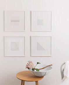 gray and white woven art by artist jane denton. / sfgirlbybay