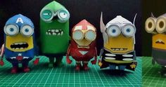 On Paper Replika Indonesian website you will find the Minions paper toys is various characterizations: Hulk, Thor, Hawkeye, Iron Man, Cap...