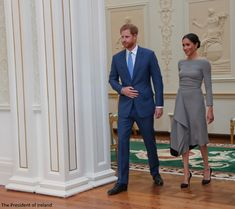 The couple were given a tour of the Aras.