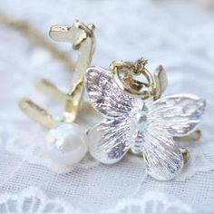 Fit-to-Kill Silver butterfly with golden horse Necklace Golden Horse, Horse Necklace, Golden Necklace, Silver Jewelry, Jewelry Necklaces, Jewellery, Elephant, Women Jewelry, Butterfly
