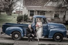 Old Truck Wedding Wedding Photos, Wedding Ideas, Old Trucks, Antique Cars, Weddings, Vehicles, Marriage Pictures, Vintage Cars, Wedding