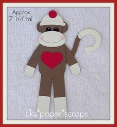 sock monkey with punches! @Melissa Dilling  - I thought of you Melissa, since you love sock monkeys!  These would be adorable for birthday party invites for Alex, etc...  :)