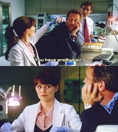 """""""You have pretty hair."""" Dr. Gregory House to Dr. Allison Cameron, House MD quotes"""
