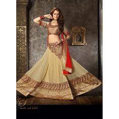 Georgette Brown Lehenga Choli Dress Material - 67621