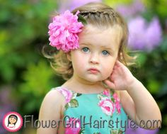 Toddler Hairstyle with Flower