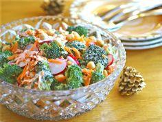 Broccoli Salad with Creamy Mustard Dressing Recipe (#vegan, #dairyfree, #grainfree)