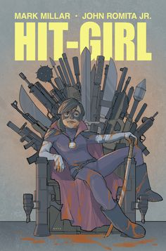 HIT-GIRL - The variant cover for the first issue of Hit-Girl from Mark Millar and John Romita Jr. This was one of those assignments where I would have paid THEM to work on it. Inspired by Game of Thrones, an early sketch had an impaled Joffrey-like head on the ground :)