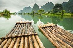 Photo by @jonathankingston Bamboo rafts float down the tranquil Li River near Guilin China.  @natgeocreative by natgeotravel