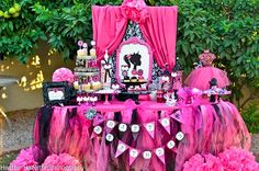 Hot Pink and Black Barbie Birthday Party