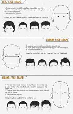 Types of faces Bob Wedding Hairstyles, Bob Hairstyles For Fine Hair, Hairstyles For Round Faces, Formal Hairstyles, Haircuts For Men, Hairstyle Men, Men's Hairstyles, Oblong Face Shape, Oval Face Shapes