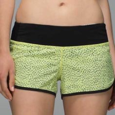 Lululemon Run: Speed Short (Color: AWOP/BLK) Brand new Lululemon Run: Speed Shorts size 4 with tags! Has never been worn. lululemon athletica Pants Leggings