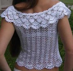 Free Crochet Pattern Blouse -  | <br/>    Crochet